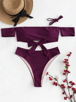Knot Off The Shoulder Bikini Set - My Lifestyle Stores