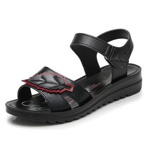 Leather comfort elderly Soft bottom sandals - My Lifestyle Stores