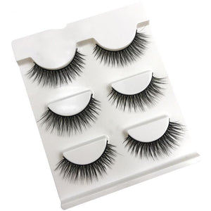 3 pairs of 3D Mink Natural false eyelashes - My Lifestyle Stores