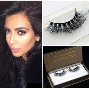 Pure Handmade 100% real Siberian 3D Mink False eyelashes - My Lifestyle Stores