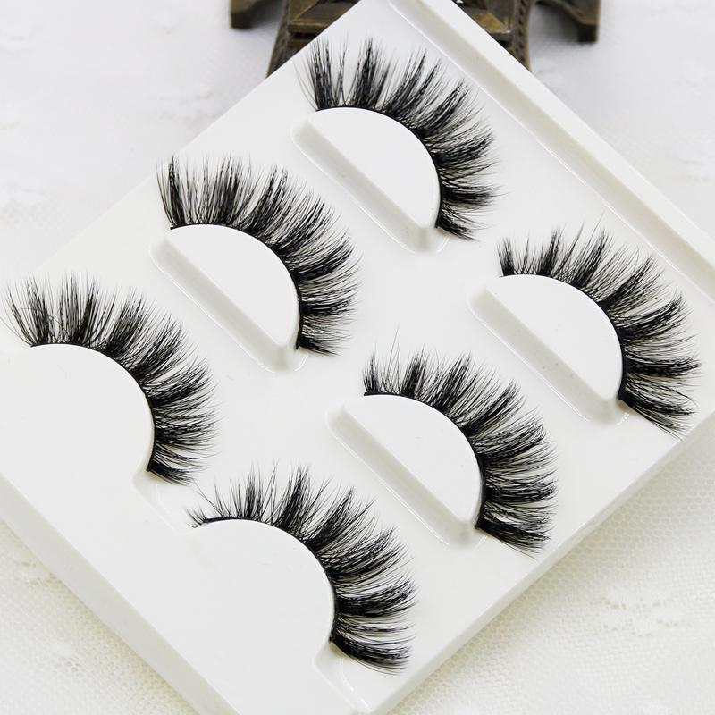 Handmade real mink false eyelash 3D strip mink lashes - My Lifestyle Stores