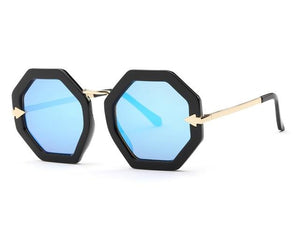 Metal Temple Octagon Frame Vintage Retro Sun Glasses - My Lifestyle Stores