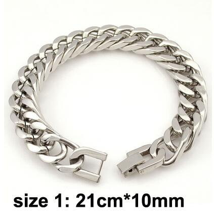 Hip Hop Party Rock Stainless Steel Bracelet for Men and Boys - My Lifestyle Stores