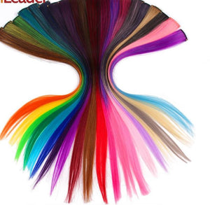 20 Color Single Clip In One Piece Hair Extensions Synthetic Long Straight Hair Pieces - 50 cm - My Lifestyle Stores