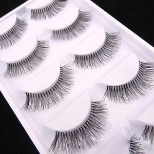 Natural Black Long Sparse Cross False Eyelashes - My Lifestyle Stores