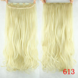 Long Synthetic Hair Clip In Hair Extension Heat Resistant Hairpiece 60cm - My Lifestyle Stores