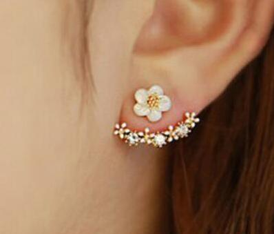 Cute Cherry Blossoms Flower Stud Earrings - My Lifestyle Stores