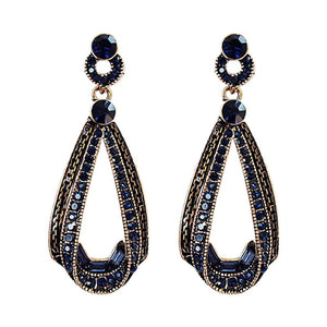 Long Geometric Crystal Earrings - My Lifestyle Stores