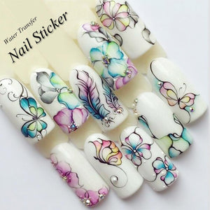 Nail stickers water transfer sticker nail art - My Lifestyle Stores