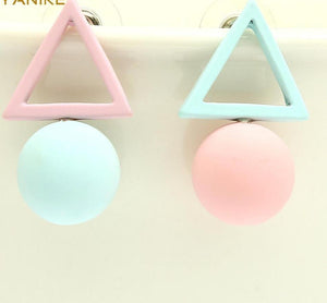Different Geometry Cube Candy Color Stud Earrings - My Lifestyle Stores