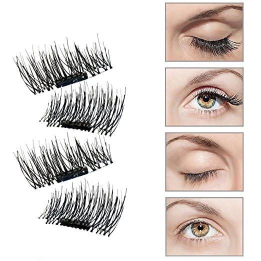 2 Pair of 3D Reusable False Magnet Eyelashes Natural Handmade Extension - My Lifestyle Stores