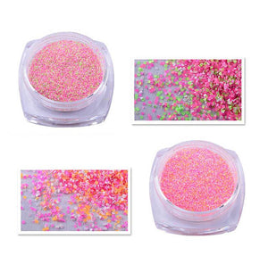 12 Colors Nail Art Glitter Shimmer Fluorescent Pearly Powder Dust - My Lifestyle Stores