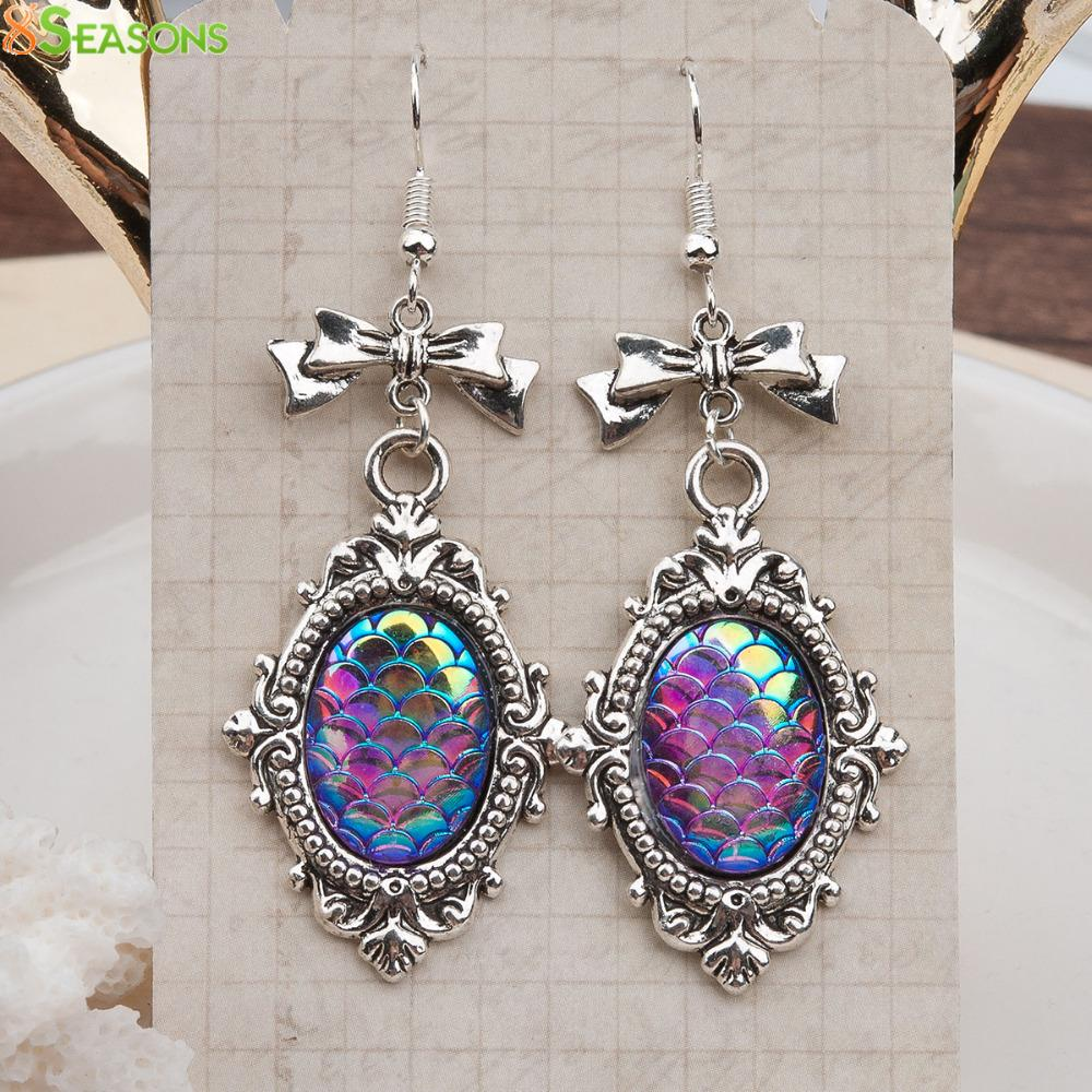 Dragon Scale Earrings Antique Silver Color - My Lifestyle Stores