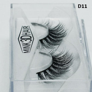 3D Mink Lashes Natural Thick Crisscross Messy False Eyelashes Pure Handmade - My Lifestyle Stores