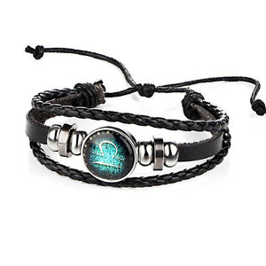 Constellations Leather Zodiac Sign with beads Bracelets - UNISEX - My Lifestyle Stores