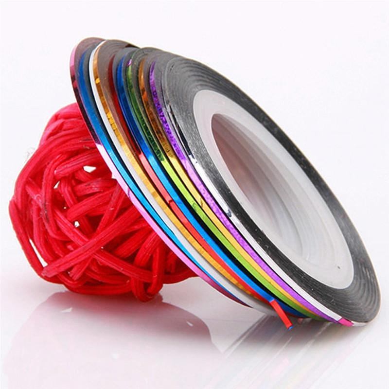 10 Rolls Striping Tape Line Nail Art Tips Decoration Sticker - My Lifestyle Stores
