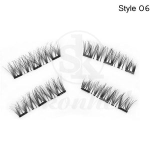 3D Triple Magnetic Full Strips Handmade Eye Lashes No Glue Required - My Lifestyle Stores