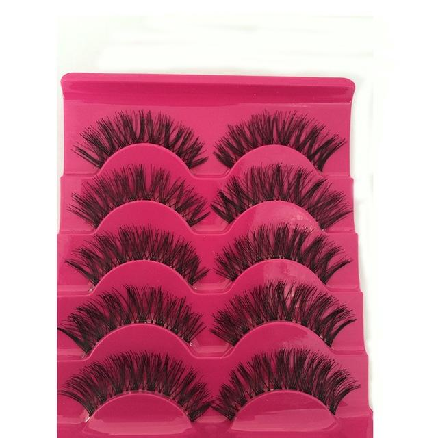 Soft Natural Long Cross Fake Eye Lashes Handmade - My Lifestyle Stores