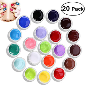 20 Colors UV Color Gel UV Builder Gel Nail Kit Nail Art Decoration - My Lifestyle Stores