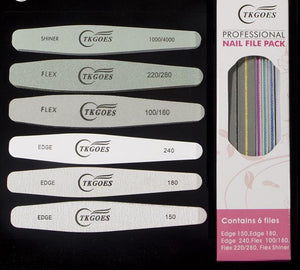 Nail Files Slim kit set including Nail Buffer and Sandpaper - My Lifestyle Stores