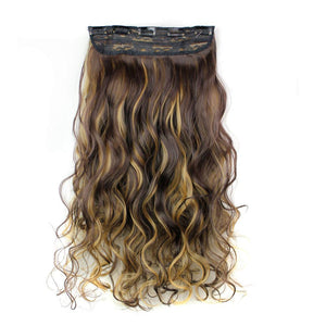 5Pcs Clip False Hair Synthetic Hair Extension Curly Heat Resistant Hair - My Lifestyle Stores