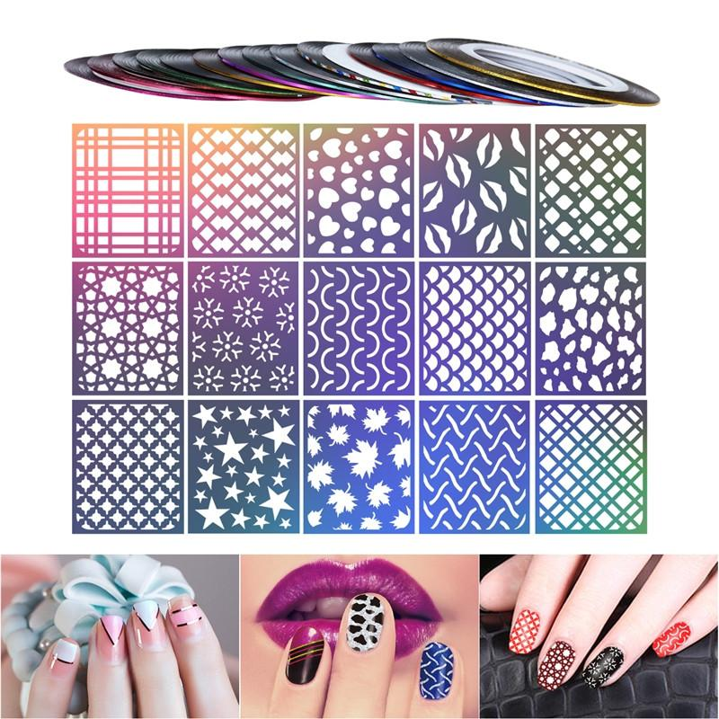 Creative Nail Stickers Decals Hollow Out Nail Art Designs Manicure Decoration - My Lifestyle Stores