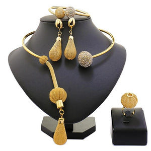 New African Beads Jewelry Set Exquisite Carved - My Lifestyle Stores