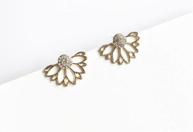 Crystal Flower Stud Earrings - My Lifestyle Stores