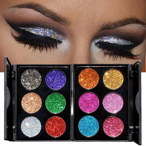 Shimmer Glitter Eye Shadow Powder Palette Matte Eyeshadow Cosmetic Makeup - My Lifestyle Stores