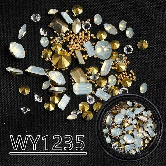 Mixed Nail Art 3D Tip Drill Copper Nail Decoration Studs - My Lifestyle Stores