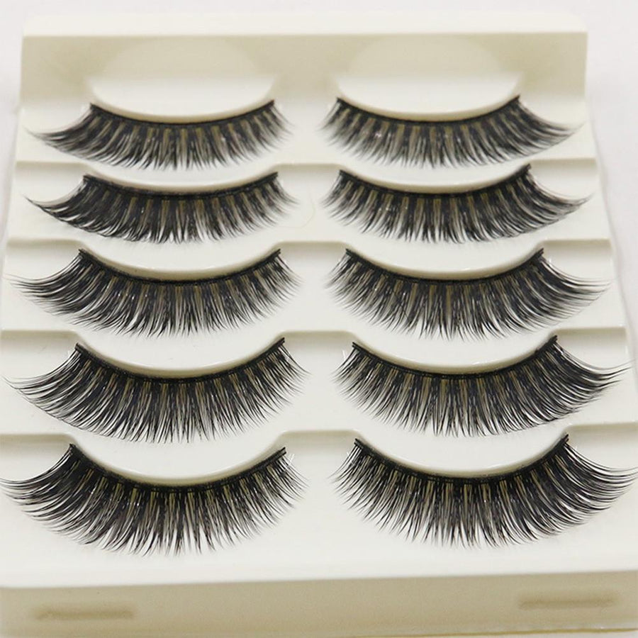 5 Pairs Natural Soft 3D False Eyelashes Long Thick Lashes - My Lifestyle Stores