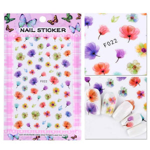 3D Blooming Flower Nail Art Stickers and Decals - My Lifestyle Stores