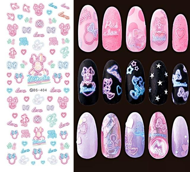 DIY Water Transfer Nails Art Sticker Colorful Purple Fantacy Flowers Nail Stickers - My Lifestyle Stores