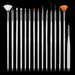 Professional UV Gel Acrylic Nail Art Brush Set - 15pcs - My Lifestyle Stores