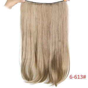 Long Synthetic Hair Heat Resistant Hairpiece Fish Line Straight Hair Extensions - My Lifestyle Stores
