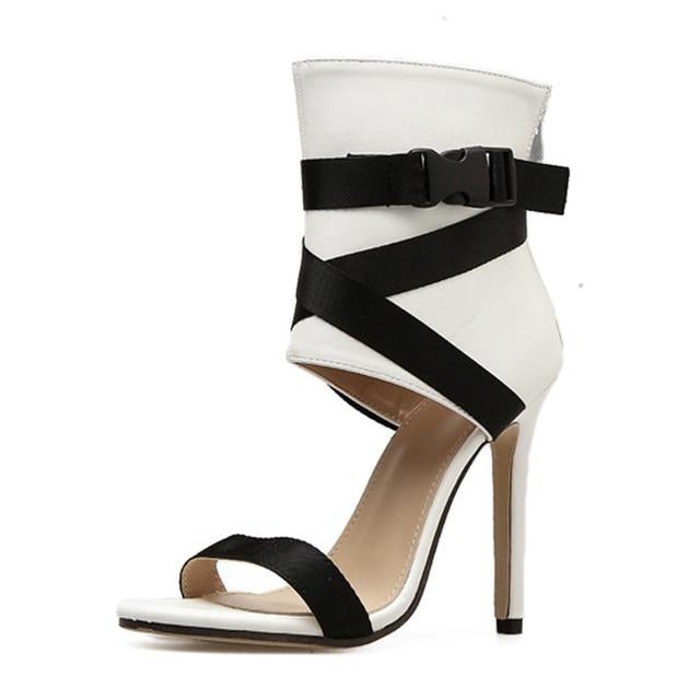 CrissCross Strap Covered Ankle Heels