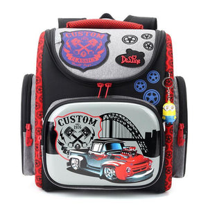 Orthopedic school bags cars pattern for 1-3 graders - My Lifestyle Stores
