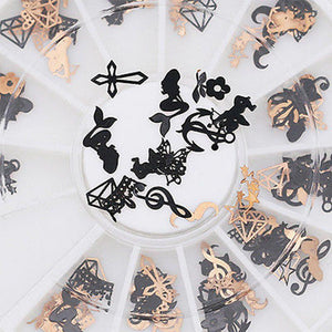 12 Kinds 3D Metal Nail Art Decoration - My Lifestyle Stores