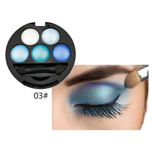 Professional Eyes Makeup Pigment Eyeshadow 5 Colors Eye Shadow Palette - My Lifestyle Stores