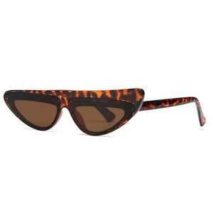 Cat Eye Asymmetry Frame Small Triangle Sun Glasses - My Lifestyle Stores