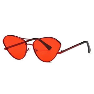 Cat Eye Twin-Beams Metal Temple Stylish Sun Glasses - My Lifestyle Stores