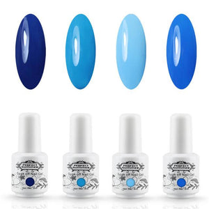 4 Piece Gel Polish UV LED Nail Gel Hot Color - My Lifestyle Stores