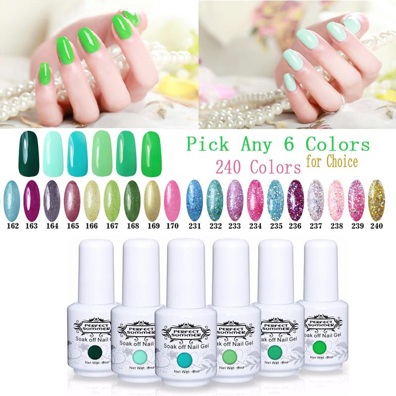 Nail Gel Polish New Green Series 6 Pieces UV Gel Nail Polish - My Lifestyle Stores