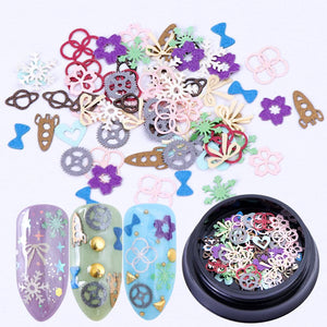 Mix Nail Sequins Shape Tips Heart Gear Color Flakes - My Lifestyle Stores