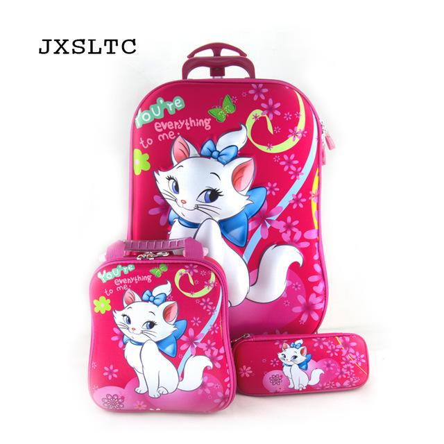 3PCS Cartoon Trolley School Bags -Easily Climb Stairs - My Lifestyle Stores