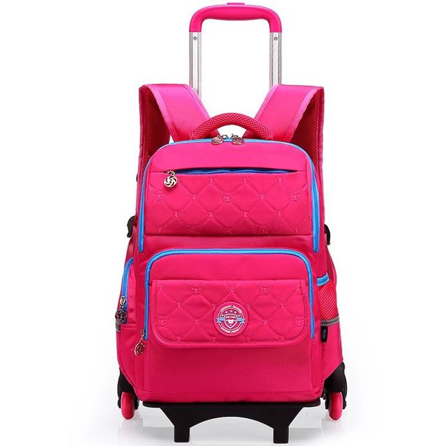 Wheeled Backpack - Trolley School Bags 6 Wheels To Climb Stairs - My Lifestyle Stores