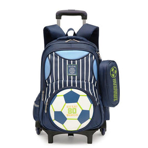 Removable Trolley School Bag With 2/6 Wheels - My Lifestyle Stores