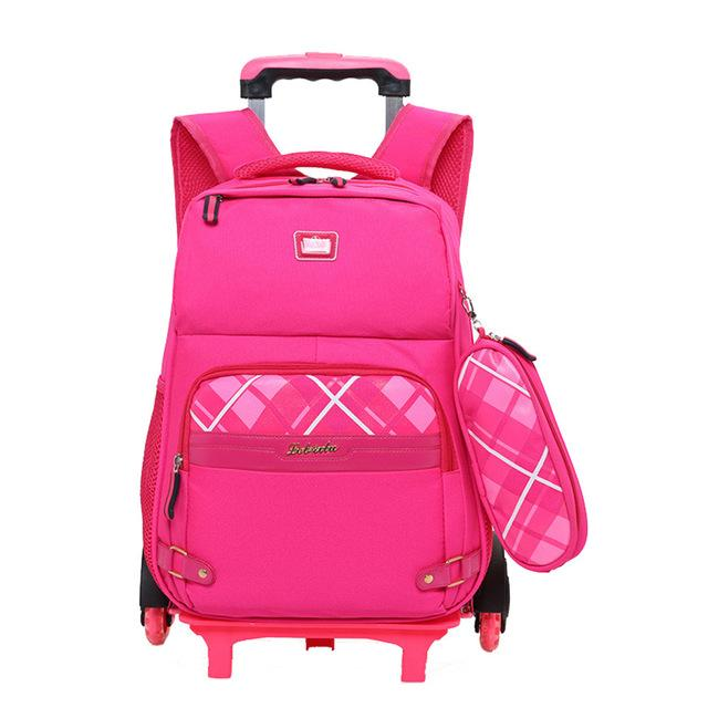 2 pcs Removable Trolley School bags 3--6 graders - My Lifestyle Stores