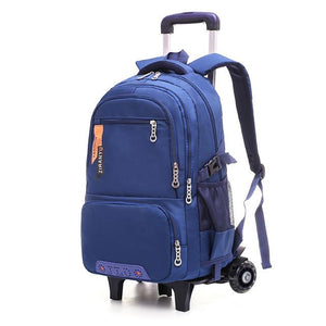 Removable Trolley School Bag with 3 Wheels - My Lifestyle Stores