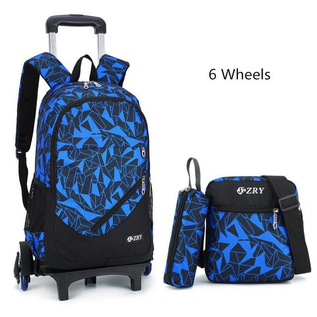3pcs children trolley school bag - My Lifestyle Stores